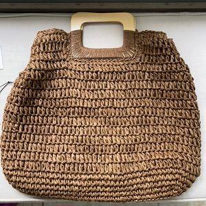 Melie Bianco HYPEACH straw bag